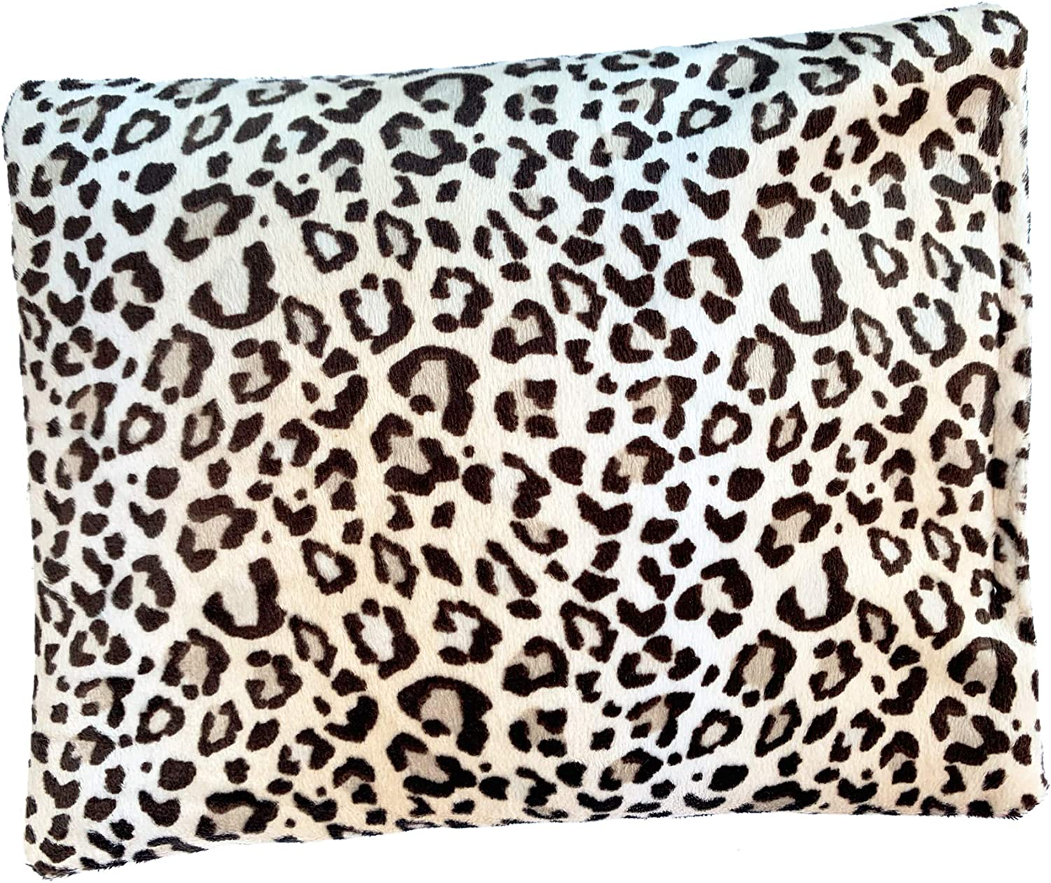 """Solayman's Buckwheat Heating Pad- Leopard 9x7"""" - Moist Heat Therapy Pillow - Cooling and Heating Pads for Back Pain, Joint, Shoulder, Cramps, Muscle Soreness & Migraine Pain Relief"""