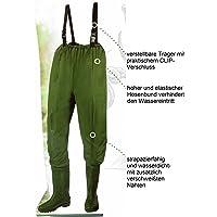 Pantalones de pesca, pantalones para estanque con botas