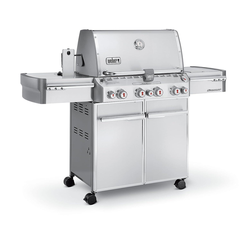 Amazon.com: Weber Summit 7170001 S-470 Stainless-Steel 580-Square-Inch  48,800-BTU Liquid-Propane Gas Grill: Garden & Outdoor