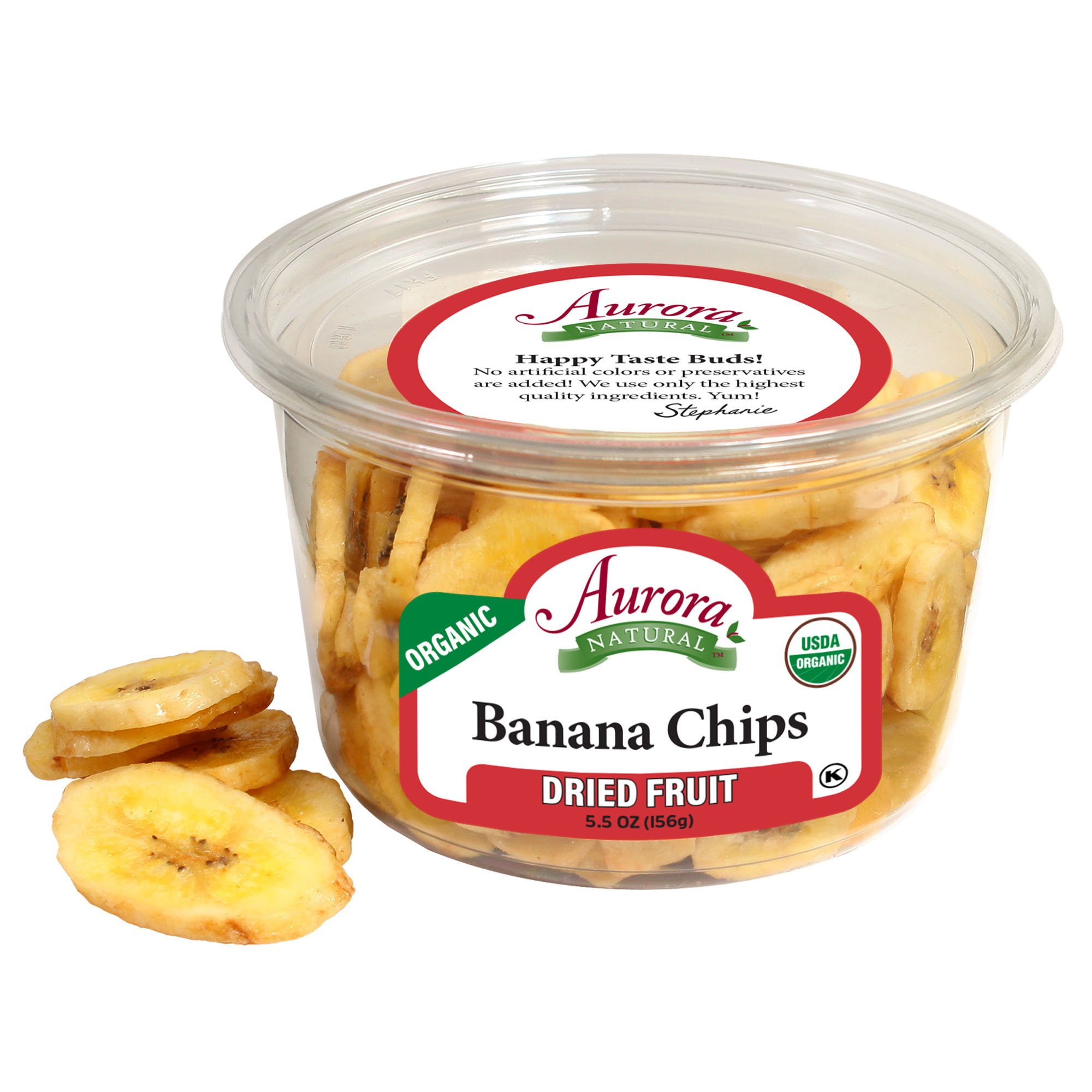 Aurora Natural Products Organic Banana Chips, 5.5 Ounce (Pack of 12) by Aurora Natural (Image #1)