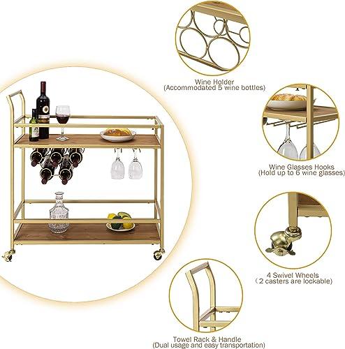 HAWOO Gold Bar Cart
