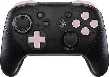 eXtremeRate ABXY D-Pad ZR ZL L R Botones para Mando Nintendo Switch Pro Teclas de Reemplazo Tacto Suave Botón Completo con Herramientas para Nintendo Switch Pro-Controlador NO Incluido(Sakura Rosa): Amazon.es: Electrónica