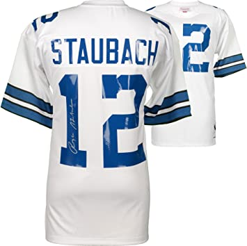 6801b10b90a Image Unavailable. Image not available for. Color: Roger Staubach Dallas  Cowboys Autographed Mitchell & Ness White Authentic Jersey - Fanatics ...