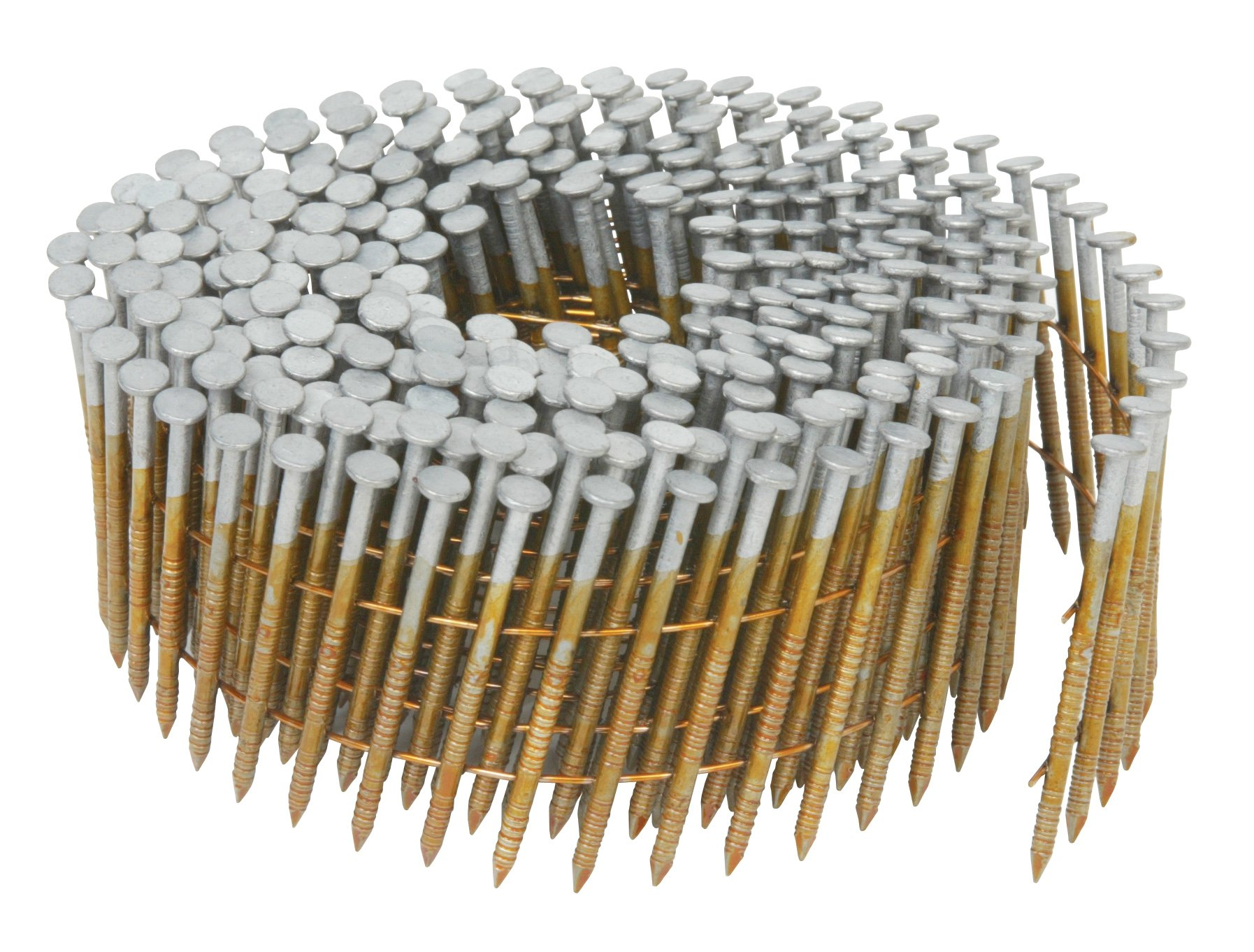 Hitachi 13369 2-1/2-Inch x 0.092-Inch Full Round-Head Ring Shank Hot-Dipped Galvanized Wire Coil Siding Nails, 3600-Pack