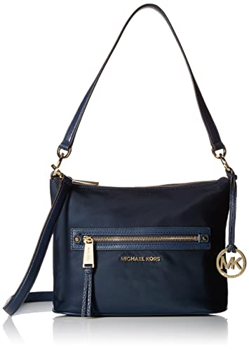 michael kors rhea zip medium convertible shoulder bag navy handbags rh amazon com