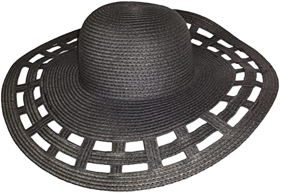 New Retro Wide Brim Floppy Raffia Summer Sun Hat 1940 s 1950s Hollywood  Style 84a759a12993