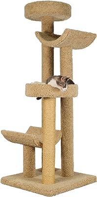 Handmade 4-Tier Cat Tree with Sisal