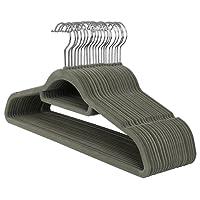SONGMICS Velvet Hangers, Ultra Thin Space Saving Non-Slip Coat Hangers with Tie Organizer, 360 Degree Swivel Hook