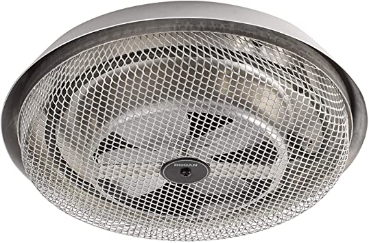 Broan-NuTone 157 Low-Profile Fan-Forced Ceiling Heater, Enclosed Sheath  Element for Bathroom, Kitchen, and Home, Standard, Satin Aluminum - Utility  Heaters - Amazon.com