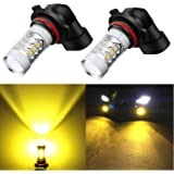 Alla Lighting High Power 3030 SMD New Version Xtremely Super Bright 9006 HB4 LED Bulb Gold Yellow LED Fog Light Bulbs Lamps Replacement