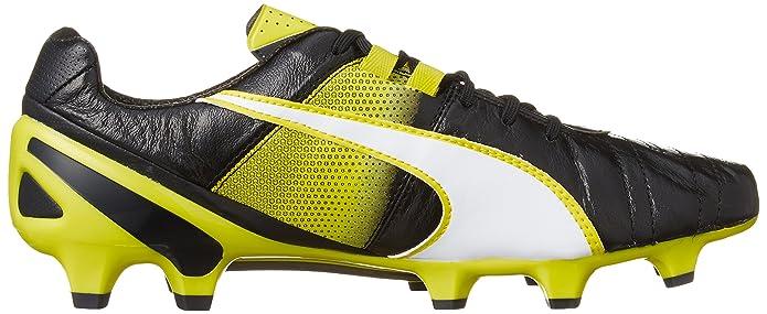 Puma King II SL FG, Chaussures de Football Homme - Jaune - Gelb (Safety Yellow-Black 03), 40.5