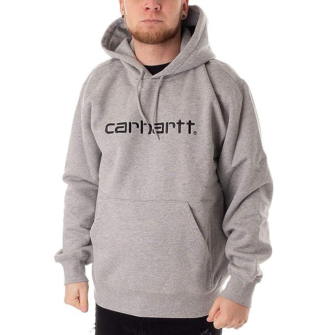Carhartt - Sudadera con Capucha - Encapuchado - para Hombre Gris, Negro S