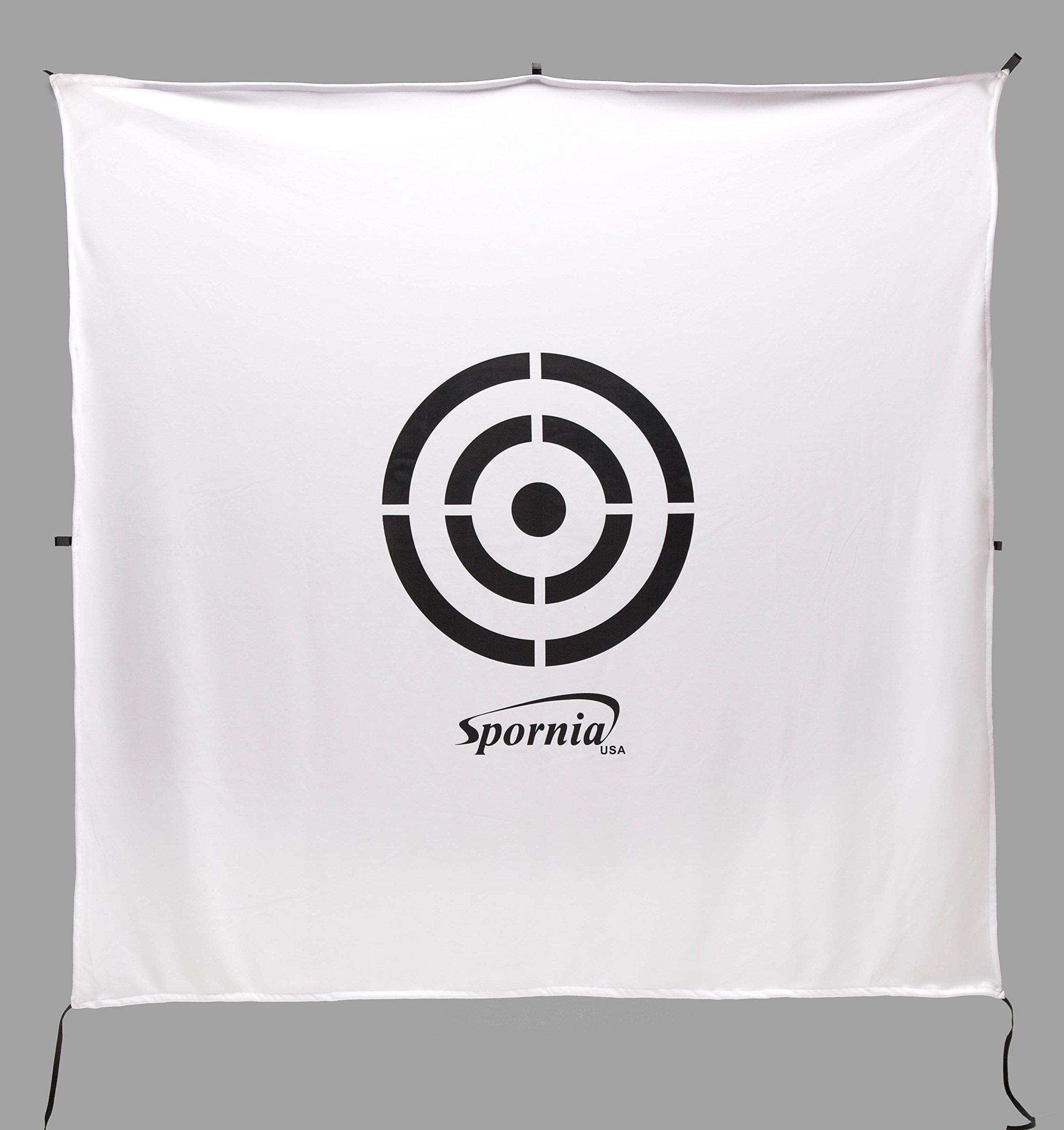 Spornia Golf Net Target (6' x 6') | Golf Simulator Screen | Circle Backstop Target | 2 in 1 Reversible Screen | Indoor Home Training