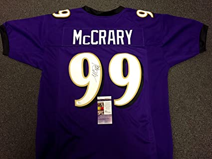 03b90d235 Image Unavailable. Image not available for. Color: MICHAEL MCCRARY  Autographed BALTIMORE RAVENS CUSTOM SIGNED JERSEY ...