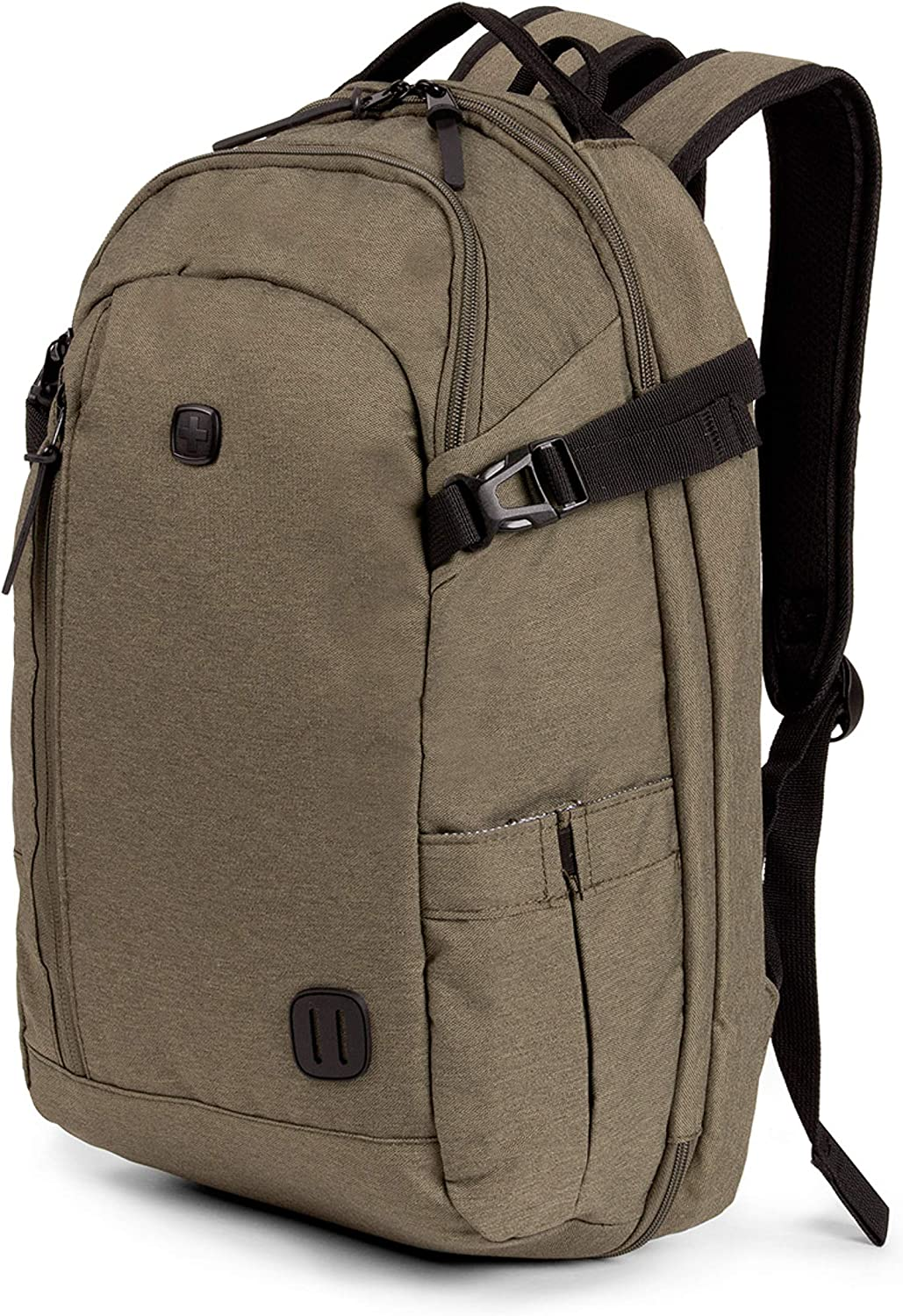 SWISSGEAR Hybrid 15-inch Laptop Backpack | Travel, Work School | Men's and Women's - Olive