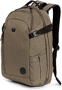SWISSGEAR Hybrid 15-inch Laptop Backpack   Travel, Work School   Men's and Women's - Olive