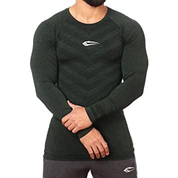 f582d0884095 SMILODOX Slim Fit Longsleeve Herren | Seamless - Funktionsshirt für Sport  Fitness Gym & Training