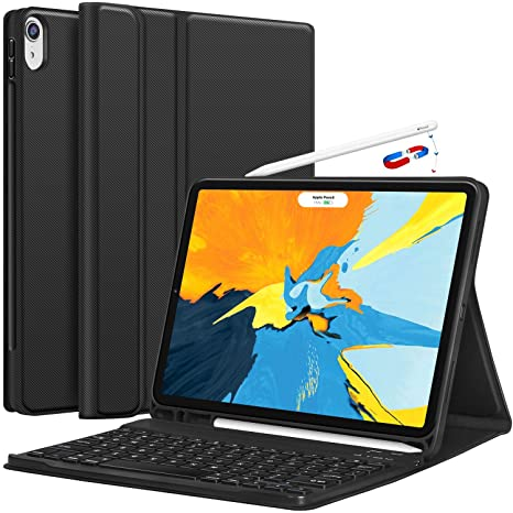 best cheap eed77 3ee0d CHESONA iPad Pro 11 Keyboard Case 2018 - Detachable Wireless Keyboard  [Support Apple Pencil Charging] - Ultra Slim PU Leather Folio Stand Cover  with ...