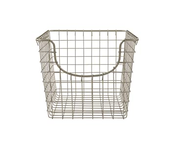 Elegant Spectrum Diversified Scoop Storage Basket, Small, Satin Nickel
