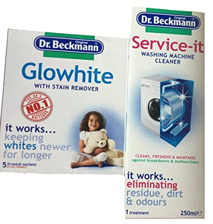 Dr. Beckmann quitamanchas glowhite con Plus Lavadora Limpiador