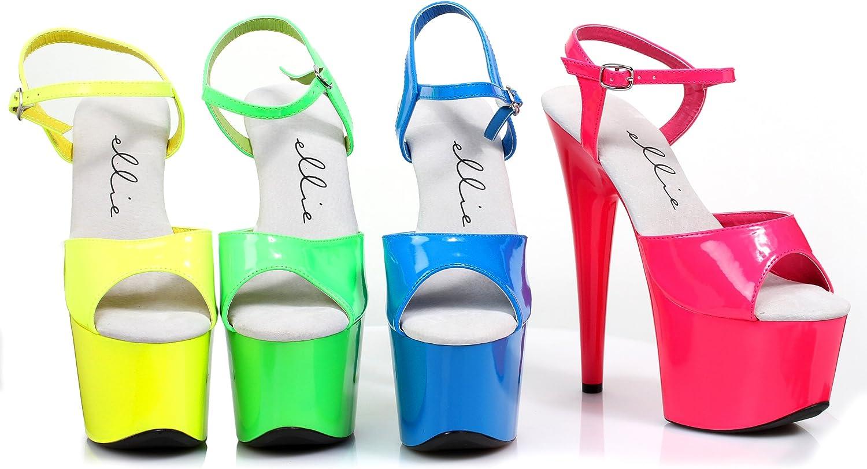 Ellie Shoes 7 Neon Stiletto Sandal