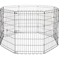 Amazonbasics 9004-36A Składany Metalowy Kojec dla Zwierząt Domowych, 152,4 X 152,4 X 91,4 cm