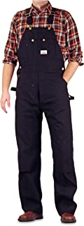 product image for Round House Men's Black Duck Overalls with Button Fly