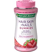 Nature's Bounty Vitamins with Biotin & Vitamin C Optimal Solutions, Hair Skin and...