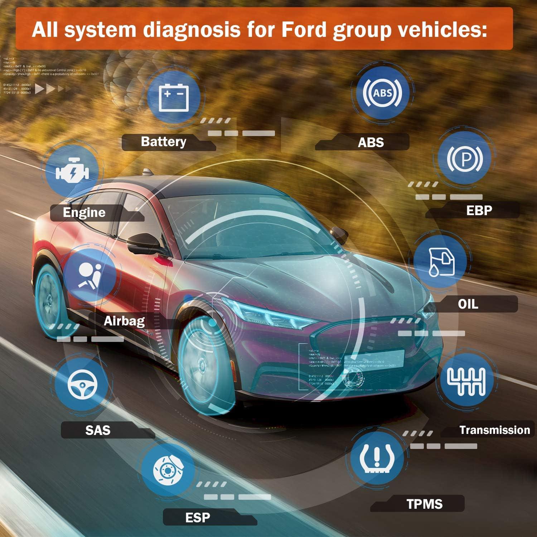 OBD2 Esc/áner para Herramienta de diagn/óstico de veh/ículos Ford Cambio de Aceite EPB BMS TPMS TPS PCM TCM KAM Reset ANCEL FD500 Lector de c/ódigo