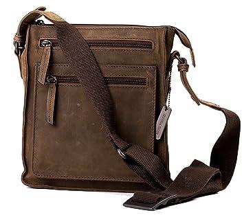 Marc Picard Leder Tasche klein eckig Umhängetasche