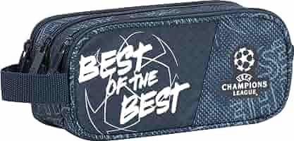 Sportandem Portatodo Escolar Champions The Best | Estuche Escolar Tres Cremalleras, Estuche Portatodo Escolar Triple con Compartimentos Independientes de Gran Capacidad - Medidas 22,5 x 9,5 x 8 cm: Amazon.es: Oficina y papelería