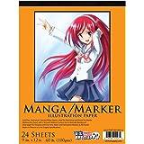 "U.S. Art Supply 9"" x 12"" Premium Manga-Marker Paper Pad, 60 Pound (100gsm), Pad of 24-Sheets"