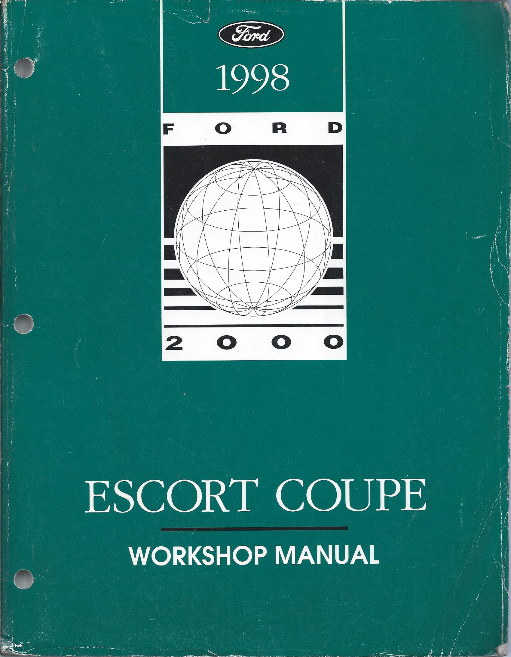 1998 Ford Escort Coupe Workshop Manual (ZX2): Ford Motor Company:  Amazon.com: Books