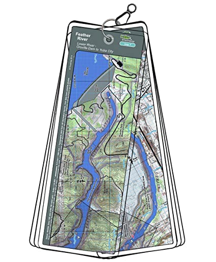 Map Of California Oroville Dam.Amazon Com Feather River Map Set California Oroville Dam To