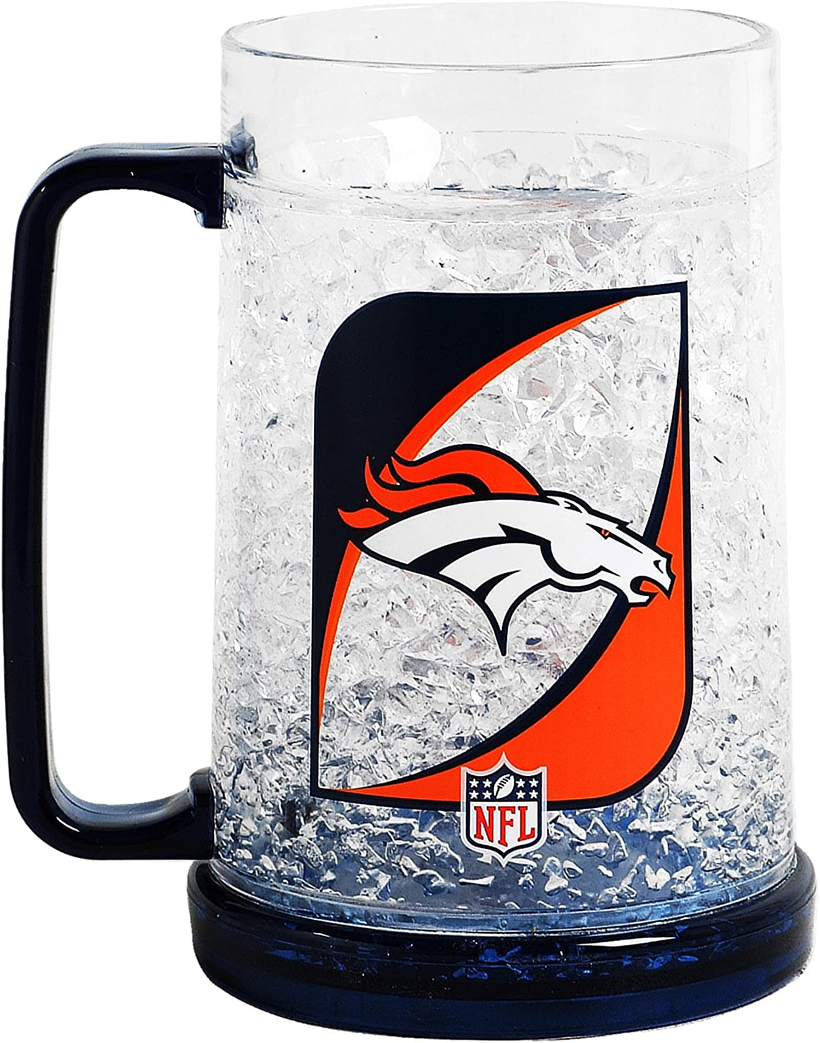 NFL Denver Broncos 16-Ounce Crystal Freezer Mug