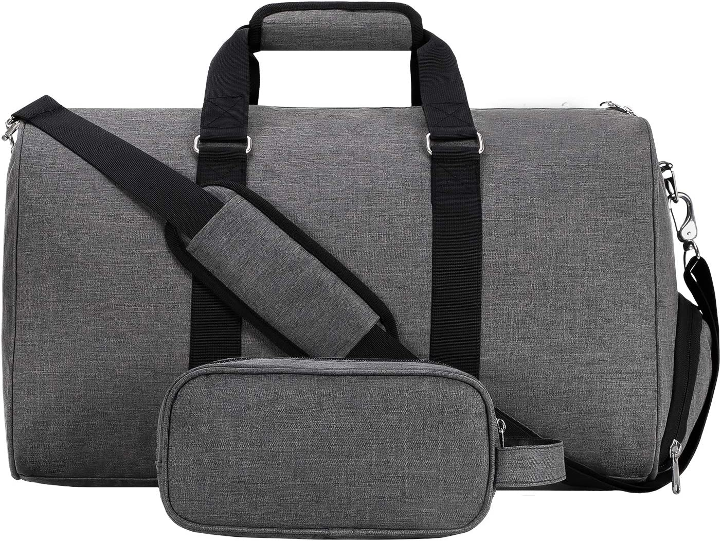 Amazon.com | MIER Sport Gym Duffel Bag with Shoes Compartment for Women Men, Weekender Overnight Duffel Travel Luggage Bags with Toiletry Bag 20 Inches Light Grey | Sports Duffels