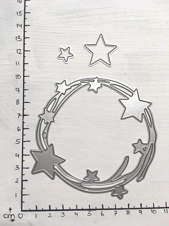 Stanzschablone// Cutting dies Zierrand Stern Weihnachten geeignet für Big Shot