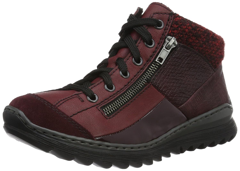 Rieker M6243, Zapatillas Altas para Mujer 39 EU|Rojo (Pomerol/Vino/Bordeaux/Bordeaux/Vinaccia/Rot-schwar / 35)