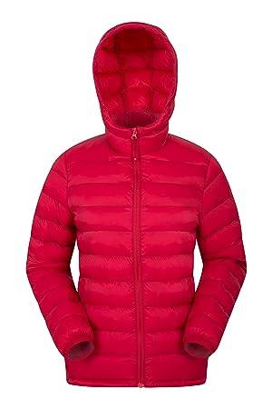 Mountain Warehouse Chaqueta Acolchada Seasons para Mujer - Abrigo Resistente al Agua para Mujer, Bolsillos Delanteros, puños y Capucha Ajustables Rojo 42: ...