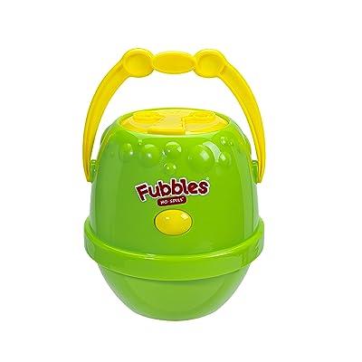 Little Kids Fubbles No-Spill Motorized Bubble Machine in Green, Includes 4oz Bubble Solution: Toys & Games