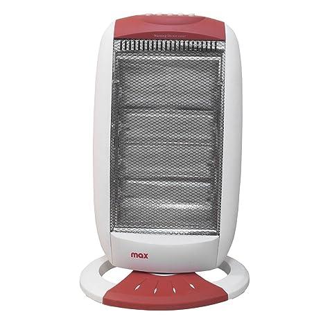 Estufa eléctrica halógena a infrarrojos 4 elementos Potencia 1600 W Calefacción