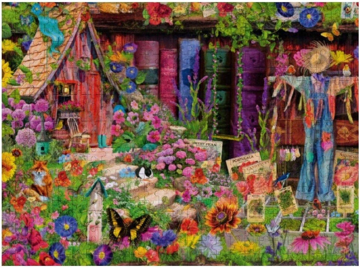 1000 Piece Wooden Jigsaw Puzzle The Scarecrow's Garden Jigsaw Puzzles Fun Game Toys Birthday Gifts (Without Frame)