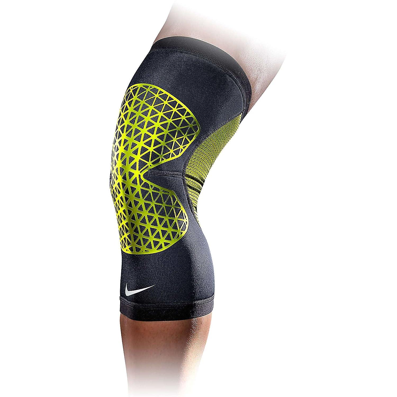 designer fashion d77e1 7f7e5 Amazon.com Nike Pro Combat Hyperstrong Knee Sleeve (M, BlackVolt) Sports   Outdoors