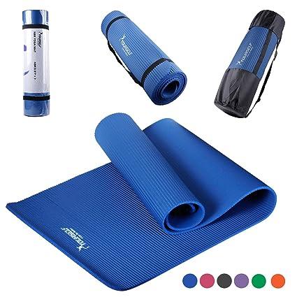 Syourself NBR Yoga Mat-183cm x 61cm x 1cm-Non Slip ...