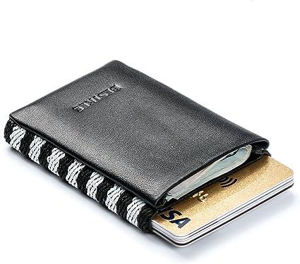 Damen Herren Mini Portemonnaie Kreditkarte Kartenhalter Geldbörse Slimwallet