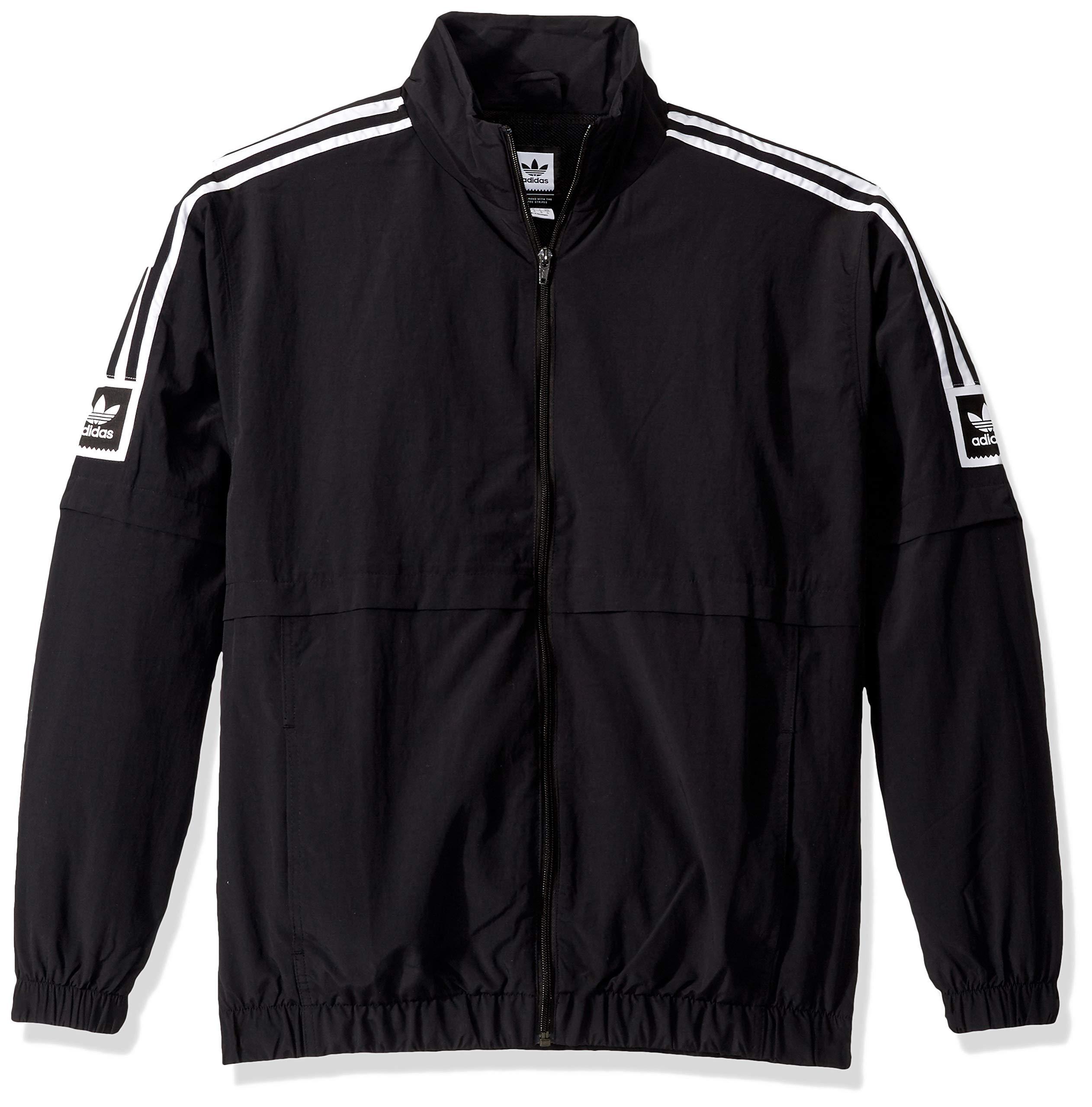 adidas Originals Men's Skate Stdrd 20 Jacket, black/White, Small by adidas Originals