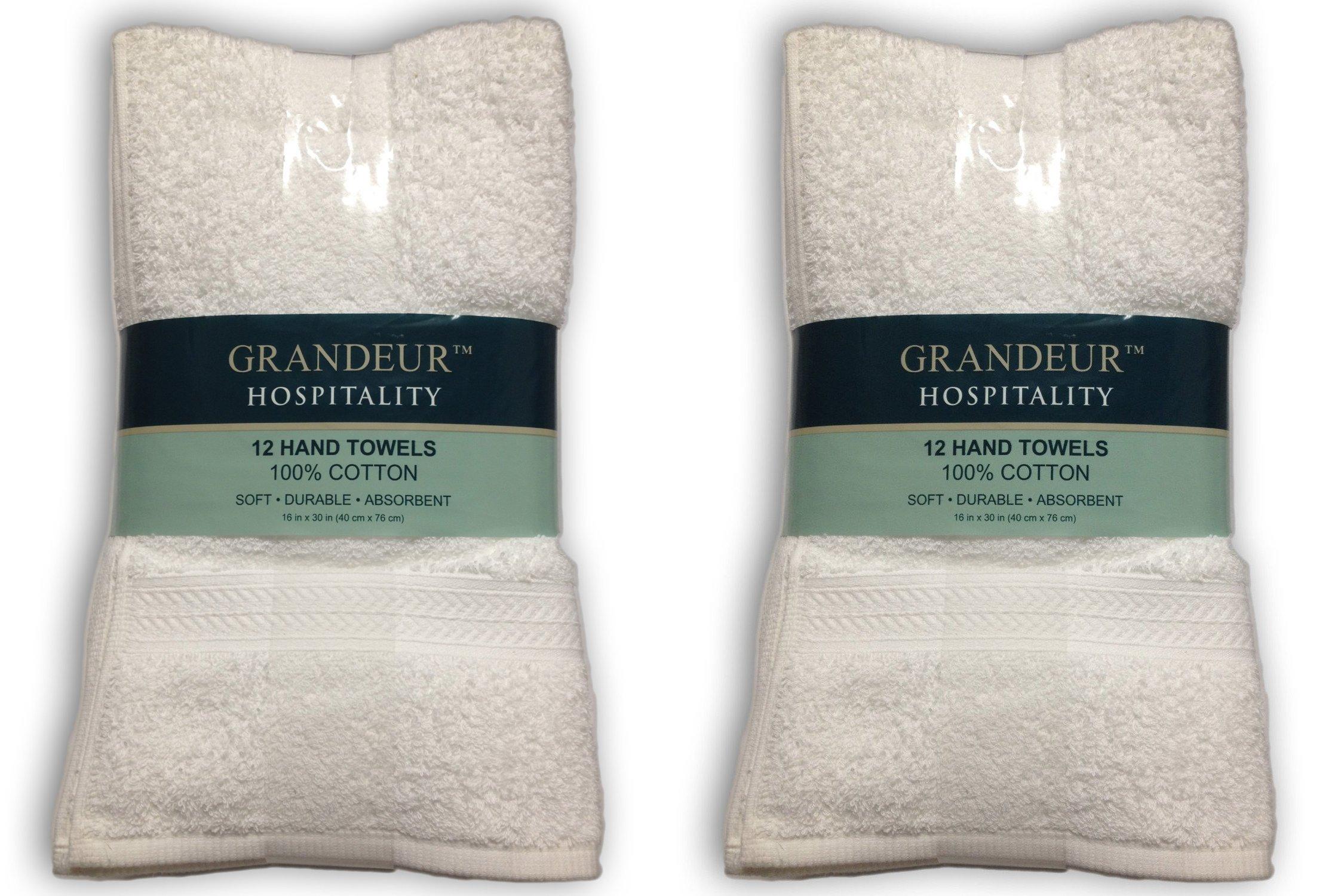 Grandeur Hospitality Hand Towels (24)
