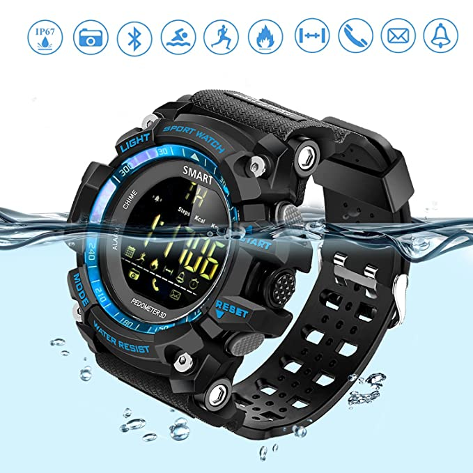63b8b829310e El reloj deportivo inteligente es súper ligero y cómodo. Correa con diseño  de agujeros que evita el sudor durante los deportes y el movimiento.