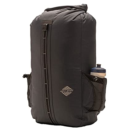 989e098bb1d3 Aqua Quest SPORT 30 Charcoal Grey Waterproof Backpack with Water Bottle  Pockets