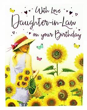 Joyeux Anniversaire Carte De Vœux Pour Fille En Loi Verse Moderne